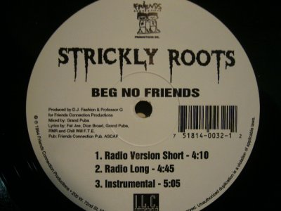 画像1: STRICKLY ROOTS / BEG NO FRIENDS