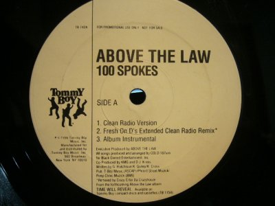 画像1: ABOVE THE LAW / 100 SPOKES