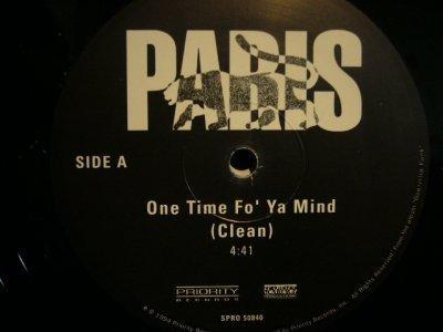 画像1: PARIS / ONE TIME FO' YA MIND