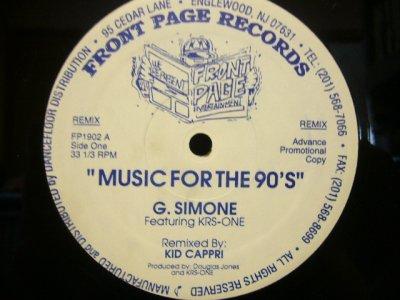 画像1: G. SIMONE feat. KRS ONE / MIUSIC FOR THE 90'S