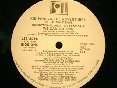 画像1: KID PANIC & THE ADVENTURES OF DEAN DEAN / WE CAN DO THIS