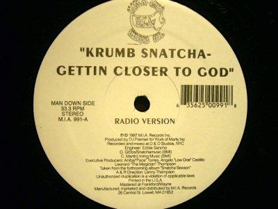 画像1: KRUMB SNATCHA / GETTIN CLOSER TO GOD
