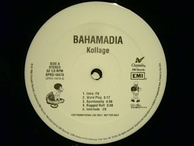 画像2: BAHAMADIA / KOLLAGE  (US-PROMO 2LP)