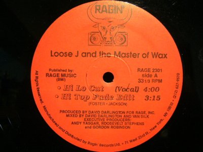 画像3: LOOSE J AND THE MASTER OF WAX ‎/ HI LO CUT