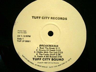 画像3: TUFF CITY SQUAD / BREAKMANIA  (US-PROMO LP)
