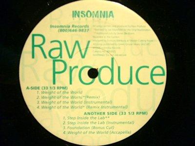 画像1: RAW PRODUCE / WEIGHT OF THE WORLD