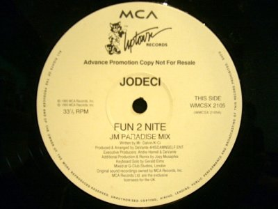 画像2: JODECI ‎/ FUN 2 NITE (JM REMIXES)  (UK-PROMO)