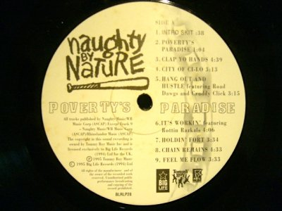 画像3: NAUGHTY BY NATURE ‎/ POVERTY'S PARADISE  (UK-LP)