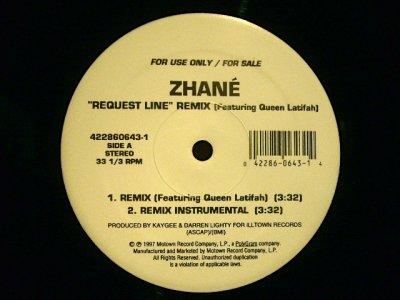 画像1: ZHANE / REQUEST LINE (REMIX) feat. QUEEN LATIFAH