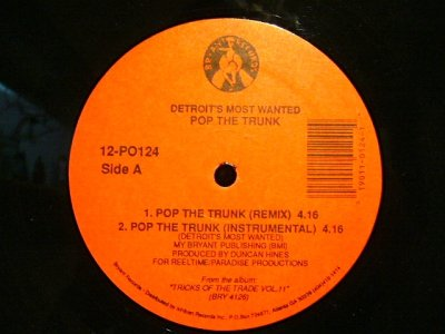 画像1: DETROIT'S MOST WANTED / POP THE TRUNK (REMIX)