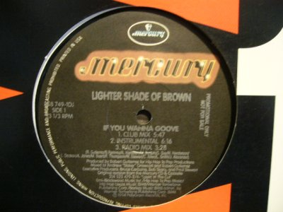 画像1: LIGHTER SHADE OF BROWN ‎/ IF YOU WANNA GROOVE  (US-PROMO)