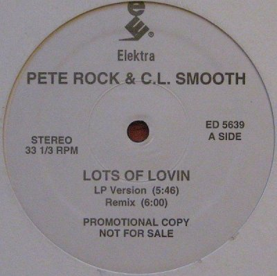 画像1: PETE ROCK & C.L. SMOOTH / LOTS OF LOVIN  (US-PROMO)