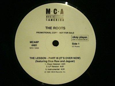 画像2: THE ROOTS / THE LESSON-PART III / YA'LL KNOW WHOO  (US-PROMO)