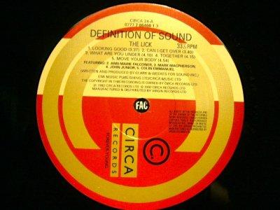 画像5: DEFINITION OF SOUND / THE LICK  (UK-LP)