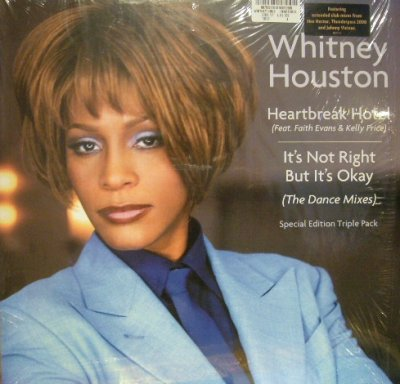 画像1: WHITNEY HOUSTON ‎/ HEARTBREAK HOTEL / IT'S NOT RIGHT BUT IT'S OKAY (THE DANCE MIXES)