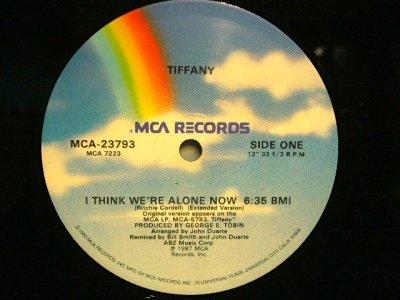 画像2: TIFFANY / I THINK WE'RE ALONE NOW