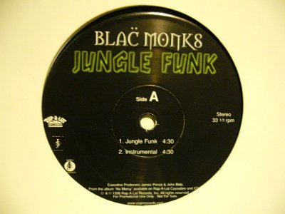 画像2: BLAC MONKS ‎/ JUNGLE FUNK  (US-PROMO)