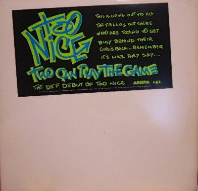 画像1: TOO NICE ‎/ TWO CAN PLAY THE GAME