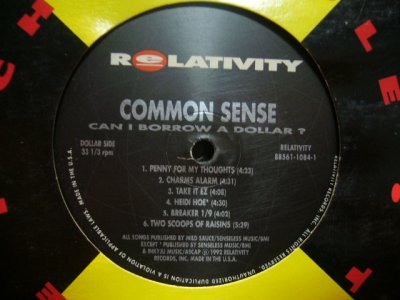 画像1: COMMON SENSE / CAN I BORROW A DOLLAR? (LP)