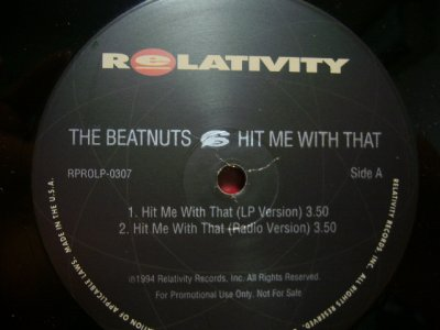 画像1: THE BEATNUTS / HIT ME WITH THAT